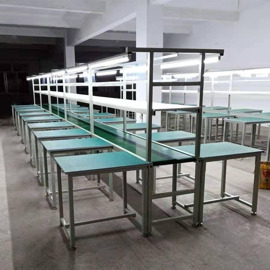 手机装配生产线铝合金流水线PVC皮带输送线