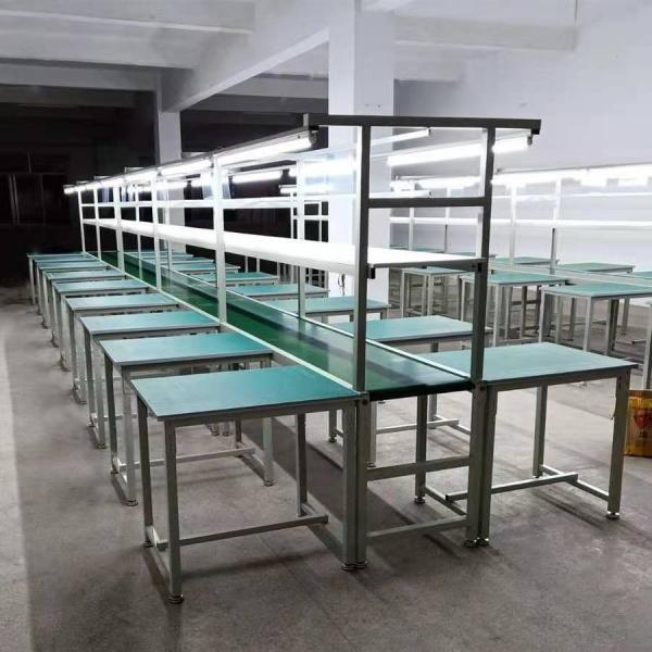 四川手机装配生产线铝合金流水线PVC皮带输送线