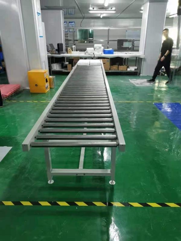 多功能无动力滚筒线物流下货梯